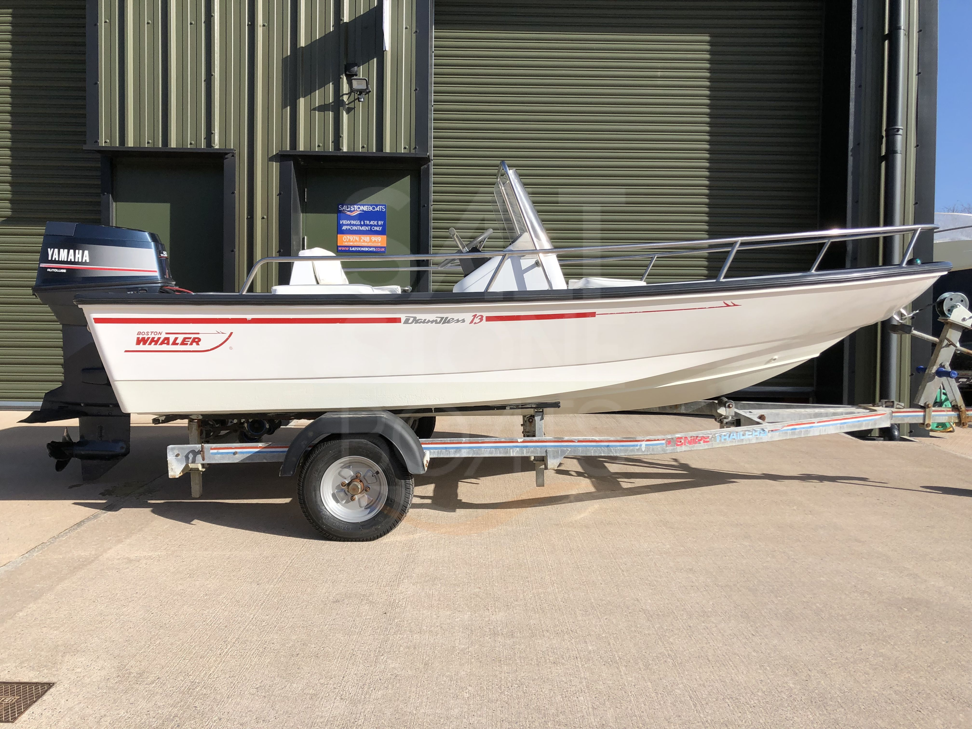 Boston Whaler 13' Dauntless with Yamaha 50 hp and Trailer - SOLD