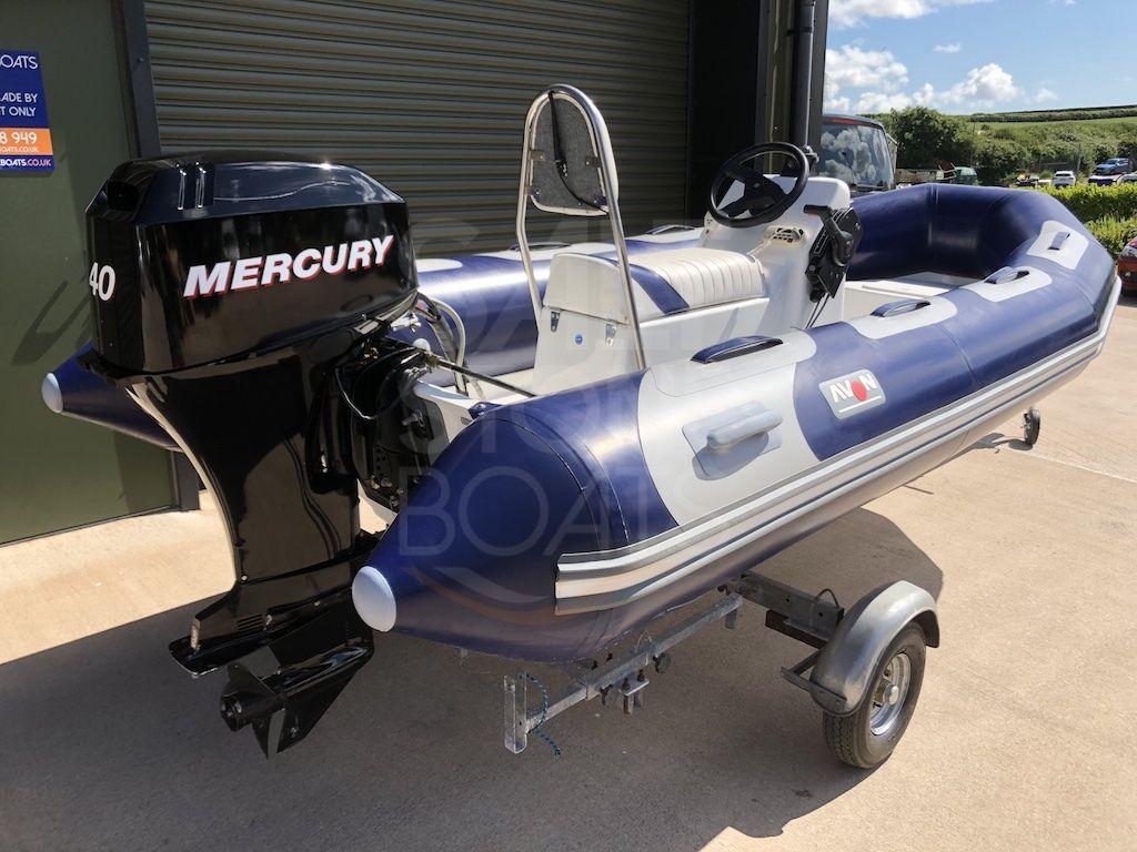 Avon 400 Adventure Rib Boat - Mercury F40 hp Outboard - Trailer