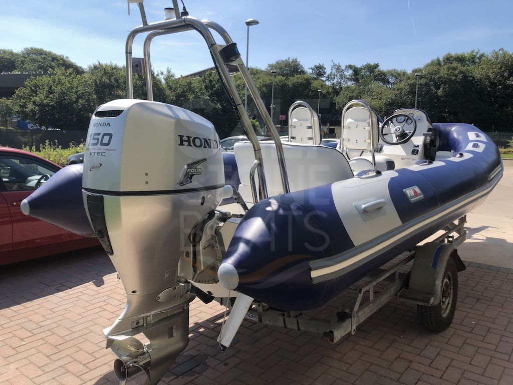 Avon 620 Adventure Rib Boat - Honda 150 Outboard Motor - Trailer
